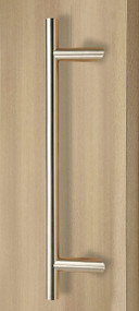 45º Offset Ladder Pull Handle - Back-to-Back (Brushed Satin Stainless Steel Finish)