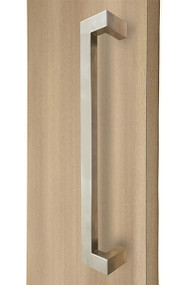 "45º Offset 1.5"" x 1"" Rectangular Pull Handle - Back-to-Back (Brushed Satin Stainless Steel Finish)"
