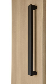 "1.5"" x 1"" Rectangular Pull Handle - Back-to-Back (Black Powder Stainless Steel Finish)"