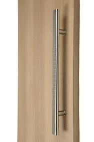 Flat Ladder Pull Handle with Stylish Dimples - Back-to-Back (Brushed Satin Stainless Steel Finish)