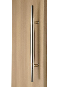 Ladder Pull Sleek Handle (Brushed Satin Finish / Polished Chrome Bands)