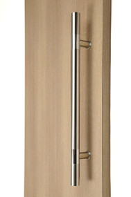 Ladder Pull Handle - Back-to-Back (Brushed Satin Finish / Polished Chrome Bands)