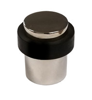 Round Floor Mount Door Stop, Polished Chrome Stainless Steel