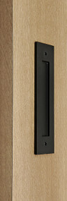 Flush Plate - Door Handle (Black Powdered Finish)