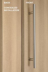 One Sided Ladder Pull Handle with Concealed Fixing (Brushed Satin Finish)