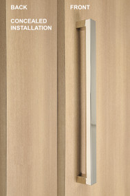 One Sided Pull Handle with Concealed Fixing - Rectangular (Polished Chrome Finish)