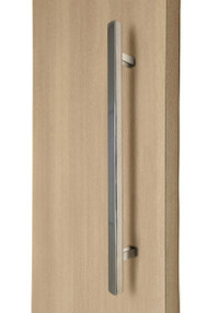 "1"" x 1"" Square Ladder Pull Handle - Back-to-Back (Polished Stainless Steel Finish)"