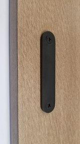 Low Profile Back-to-Back Stainless Steel Barn Door Handles   (Matte Black Powder Finish)