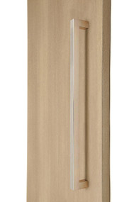 """1"""" x 1"""" Square  Pull Handle - Back-to-Back  (Brushed Satin Stainless Steel Finish)"""