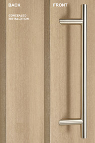One Sided 45º Offset Ladder Pull Handle with Concealed Fixing (Brushed Satin Stainless Steel Finish)