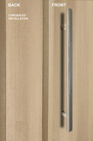 "One Sided 1"" x 1"" Square Ladder Pull Handle with Concealed Fixing (Polished Chrome Finish)"