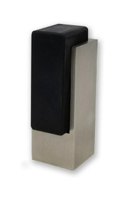 Tall Square Door Stop, Brushed Satin Stainless Steel