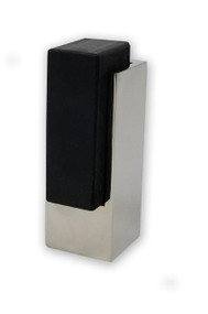 Tall Square Door Stop, Polished Chrome Stainless Steel