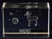 Aries Zodiac Sign Crystal