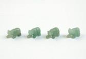 Aventurine  Bear Green Beads Set of 4 With 1.3mm Hole