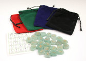 Aventurine Green Rune Stone Set With Pouch