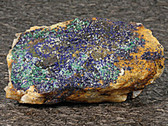 Azurite and Malachite Crystals Mineral Specimen