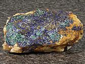 Azurite and Malachite Crystals Mineral Specimen