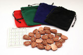 Goldstone Brown Rune Stone Set With Free Pouch