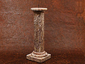 Candle Holder Tall Onyx Rose Pink White Carved Stone