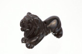 Hematite Lion Beads Black Stone Beads Set of 4 With 1.3mm Hole