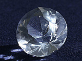 Quartz Crystal Faceted Diamond Optically Clear