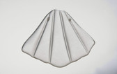 Quartz Shell Pendant Matte Finish Carved Stone - 2 Drill Holes