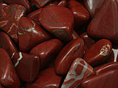 Red and White Jasper Tumbled Stone 1 Piece