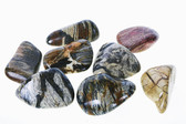 "SILVER LEAF JASPER Tumbled Stones 1/2 Pound, Size Large 1.3"" to 1.9"""