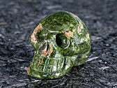 Skull Unakite Hand Carved