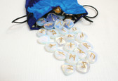 Opalite Rune Stone Set With Pouch