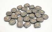 Hematite Black Rune Stones NO POUCH