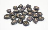 Blue Goldstone Rune Stones NO POUCH
