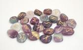 Fluorite Rune Stones NO POUCH