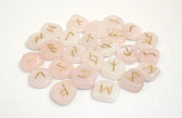 Rose Quartz Rune Stones NO POUCH