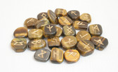 Tiger's Eye Rune Stones NO POUCH