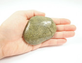 Rhyolite Jasper Large Flat Green Tumbled Intuition Stone
