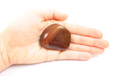 Tiger's Eye Large Flat Red Polished Tumbled Stone