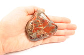 Brecciated Jasper Large Flat Polished Red Gray Stone