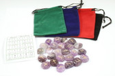Amethyst Purple Rune Stone Set With Free Pouch