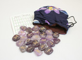 Amethyst Rune Stone Set With Pouch