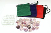 Fluorite Rune Stones With Free Pouch