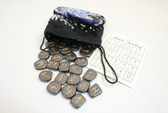 Hematite Rune Stone Set With Pouch