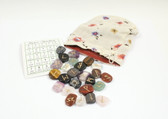 Mixed Gemstone Rune Stone Set With Pouch