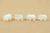 Opalite Elephant Beads Carved Blue Beads Set of 4 with 1.3mm Hole