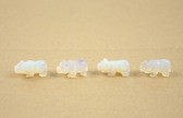 Opalite Panther Beads Carved Blue Beads Set of 4 with 1.3mm Hole