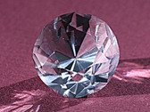 Quartz Crystal Faceted Optically Clear Small Gemstone