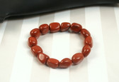 Red Jasper Beaded Stone Stretch Bracelet