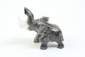 Onyx Elephant Carved Gray Black Stone Good Luck