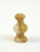 Chess Pawn Brown White Onyx Stone Replacement Playing Piece